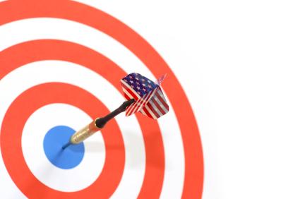 American English (Flag) Hitting Target