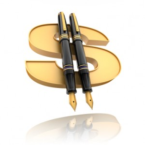 Write and Grow Rich (Pens with Golden Dollar Sign)